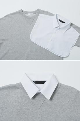 페이크 레이어드 셔츠
